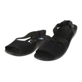 Wygodne czarne sandały damskie Adanex 17498 1