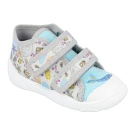 Befado obuwie dziecięce 212P065 niebieskie szare 1