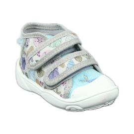 Befado obuwie dziecięce 212P065 niebieskie szare 2