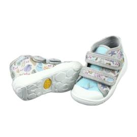 Befado obuwie dziecięce 212P065 niebieskie szare 4