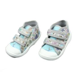 Befado obuwie dziecięce 212P065 niebieskie szare 3