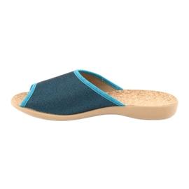 Befado obuwie damskie pu 254D105 niebieskie 2