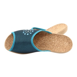 Befado obuwie damskie pu 254D105 niebieskie 5