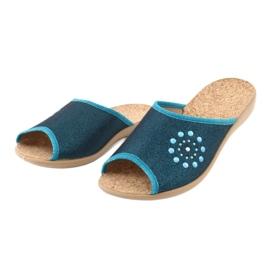 Befado obuwie damskie pu 254D105 niebieskie 3