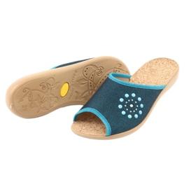 Befado obuwie damskie pu 254D105 niebieskie 4