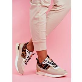 Sportowe Damskie Buty Beżowe Leopard Himme beżowy 2