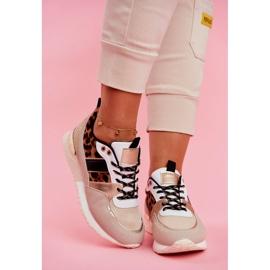 Sportowe Damskie Buty Beżowe Leopard Himme beżowy 4
