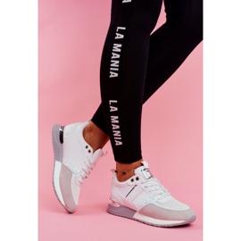 Sportowe Damskie Buty Białe Himme 1
