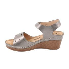 Sandały damskie koturn Evento 9SD98-0980 grey szare 1