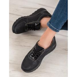 Comer Ażurowe Sneakersy Na Platformie czarne 1