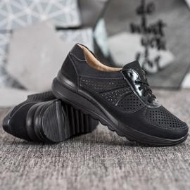 Comer Ażurowe Sneakersy Na Platformie czarne 2
