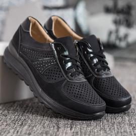 Comer Ażurowe Sneakersy Na Platformie czarne 3