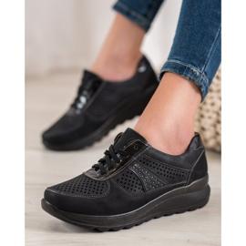 Comer Ażurowe Sneakersy Na Platformie czarne 4