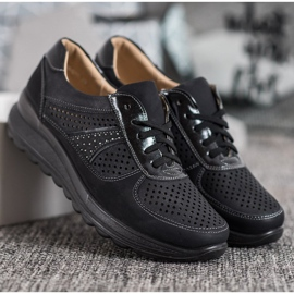 Comer Ażurowe Sneakersy Na Platformie czarne 5