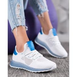 SHELOVET Białe Ażurowe Sneakersy 5