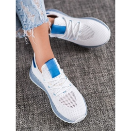 SHELOVET Białe Ażurowe Sneakersy 1