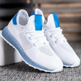SHELOVET Białe Ażurowe Sneakersy 4