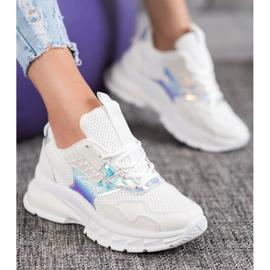 Mannika Modne Sneakersy Z Siateczką białe 4