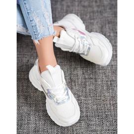 Mannika Modne Sneakersy Z Siateczką białe 1