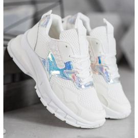 Mannika Modne Sneakersy Z Siateczką białe 2
