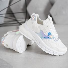 Mannika Modne Sneakersy Z Siateczką białe 3