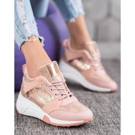 SHELOVET Sneakersy Na Koturnie 1