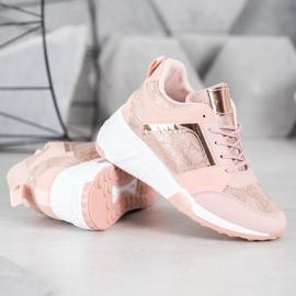 SHELOVET Sneakersy Na Koturnie 4