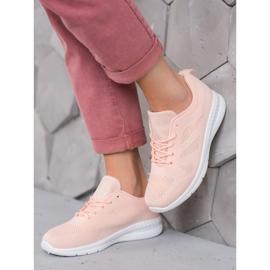Renda Ażurowe Buty Sportowe różowe 1