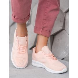 Renda Ażurowe Buty Sportowe różowe 4