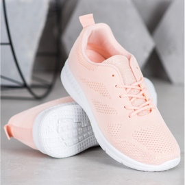 Renda Ażurowe Buty Sportowe różowe 3
