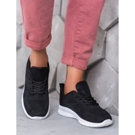 Renda Ażurowe Buty Sportowe czarne 1