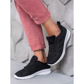 Renda Ażurowe Buty Sportowe czarne 2