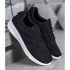 Renda Ażurowe Buty Sportowe czarne 3