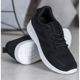 Renda Ażurowe Buty Sportowe czarne 4