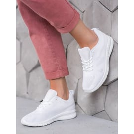 Renda Ażurowe Buty Sportowe białe 2