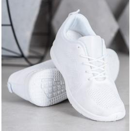 Renda Ażurowe Buty Sportowe białe 3