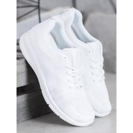 Renda Ażurowe Buty Sportowe białe 4