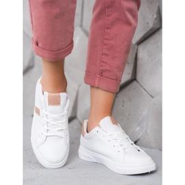 SHELOVET Buty Sportowe Z Brokatem białe 1