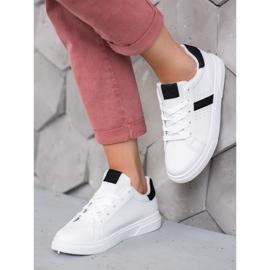 SHELOVET Buty Sportowe Z Brokatem białe 2