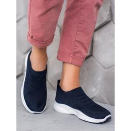 Sweet Shoes Wygodne Slipony Na Platformie niebieskie 1