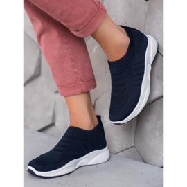 Sweet Shoes Wygodne Slipony Na Platformie niebieskie 2