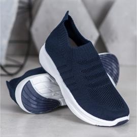 Sweet Shoes Wygodne Slipony Na Platformie niebieskie 3