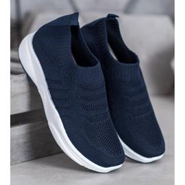 Sweet Shoes Wygodne Slipony Na Platformie niebieskie 4