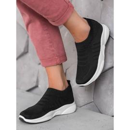 Sweet Shoes Wygodne Slipony Na Platformie czarne 2
