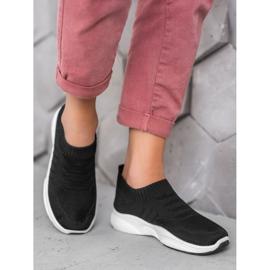 Sweet Shoes Wygodne Slipony Na Platformie czarne 1