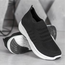 Sweet Shoes Wygodne Slipony Na Platformie czarne 3