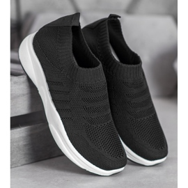 Sweet Shoes Wygodne Slipony Na Platformie czarne 4