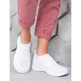 Sweet Shoes Wygodne Slipony Na Platformie białe 1
