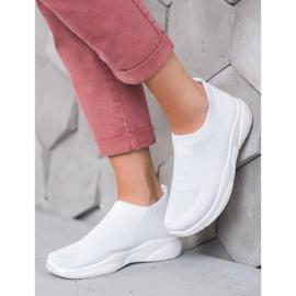 Sweet Shoes Wygodne Slipony Na Platformie białe 2