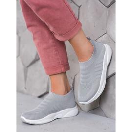 Sweet Shoes Wygodne Slipony Na Platformie szare 2